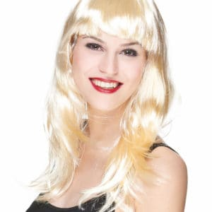 Fausse perruque blonde cheveux longs