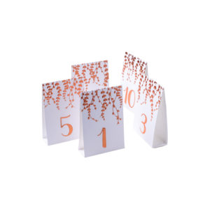 Marque table rose gold